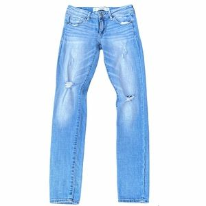 Abercrombie & Fitch Skinny Distressed Light Jeans